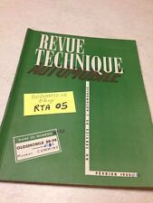 Revue Technique Automobile Oldsmobile 88-98 + moteur Cummins A et H éd. 53