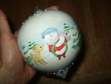 "Hallmark Keepsake Snow Buddies A Holiday ""Hello"" Ornament 2008 Snowman Bambi"
