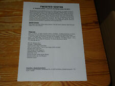 TWISTED SISTER - A TWISTED XMAS / 1 PROMO-FACTS-BLATT (DIN-A-4) 2012