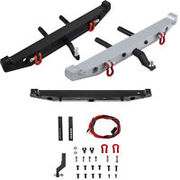 Metal Rear Bumper Anti-collision &D-rings for 1/10 Axial SCX10 90046 TRX4 RC Car
