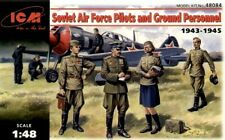 ICM 48084 WWII Soviet Pilots and Technics, 1943-1945 Plastic Model Kit 1/48