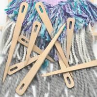Darning Tapestry DIY Wooden Needlework Sewing Big Eye Needle Yarn Knitting Q