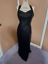 Black Velvet Sequin Long 80s Prom Cocktail Evening Gown New With Tags