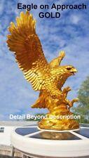 Flagpole Eagle on Approach Topper Finial Ball GOLD Solar Light USA Lifelike