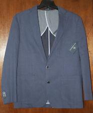 Hart Schaffner Marx Mens New $295 Suit Jacket Sport Coat Blazer L Large Blue NWT