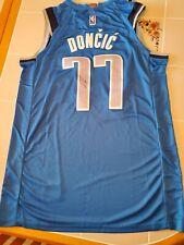 LUKA DONCIC signed MAVERICKS custom jersey SIZE XL COA PROOF PIC
