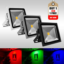 Buy 1 Get 1 Free LED Floodlight 10W-200W IP65 Garden Security/Colour Event Light