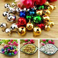 300 Pcs Colorful Iron Loose Beads Christmas Jingle Bells Pendants Charms 8x6 mm