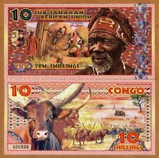 Sub-Saharan African Union, 10 Shillings, 2019, Private Issue Polymer > Man