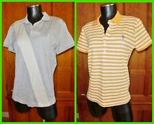 LOT of 2 RALPH LAUREN blue label sz XL L 100% Cotton Jersey Pony Polo Shirt Top
