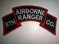 Korea War (1950-53) Scroll Patch Us 8th Airborne Ranger Company