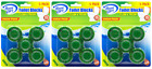 House Care Green Toilet Bowl Blocks Clean & Fresh, 5 Ct. (Pack of 3)
