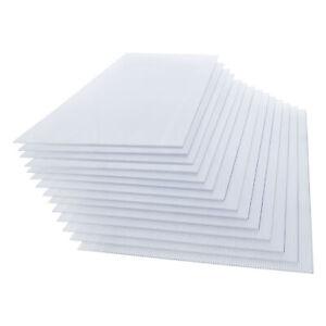 14x Polycarbonat Doppelstegplatte 4mm 10,25qm Hohlkammerplatte Gewächshausplatte