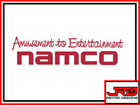 Namco Amusement to Entertainment Vinyl Sticker in Red