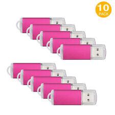 10 Lot 16GB Enough Memory Stick Rectangle Model USB Flash Drives Thumb Pen Drive