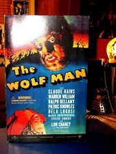 "Sideshow Toy The Wolf Man Universal Monster 12"" figure NIB Wolf Man"