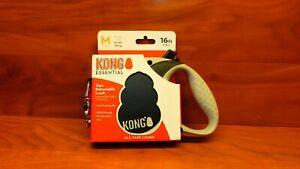 New Kong Retractable Tape Leash- 16 FT. Medium-Black - w/ Brake Button-Pet Care