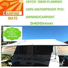 Jayco SWAN FLAMINGO Waterproof PVC PRIVACY screen  SHADE WALL 3400mm