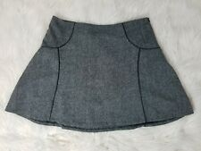 The Limited Womens Skirt Size Large Wool Blend A-Line Mini Faux Leather Trim EUC