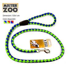 Guinzaglio Per Animali Cani Cane 120 cm in Nylon Con Gancio Acciaio Vari Colori