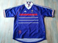 MAILLOT FOOT ADIDAS EQUIPE DE FRANCE 98 COUPE MONDE ZIDANE TAILLE XL/D7 TBE
