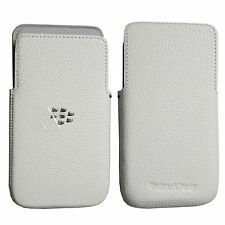 New Genuine Leather Pocket Case Pouch For Blackberry Z30 HDW-55488-002 White