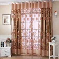 Luxurious Jacquard Curtains Burnout Tulle for Window Living Room Bedroom Door