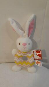 Gund Bunny Rabbit Infant Multicolored Baby Soft Stuffed Plush Hand Held Rattle