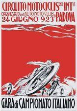 """TARGA VINTAGE """"CIRCUITO MOTOCICLISTICO PADOVA 1923""""Pubblicità,Advertising,Poster"""