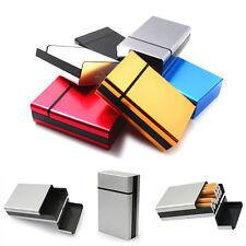 Zigarettenbox ALU Metall Zigarettenetui Zigarettenschachtel Zigarettendose Box