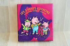 Coffret Les 3 Petits Cochons - CD + livre + décor théatre - complet