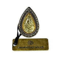 Samantha Wills Bohemian Bardot Mini Ring Yellow on Silver