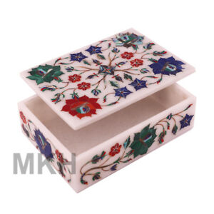 Marble Handicrafts Inlaid Jewelry Boxes Marble Jewellery Box Arts Gifts Tajmahal