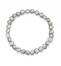 Bracciali di lusso con perle grigio