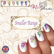 40 x Nail Art Water Transfers Stickers Wraps Decals Equestrian Girls coloured