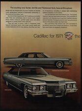 1971 CADILLAC FLEETWOOD 60 Sedan DeVille & Eldorado Convertible Car VINTAGE AD