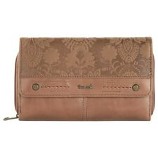 NEW THE SAK LEATHER SEQUOIA EXTRA LARGE TAB CLUTCH WALLET FLOWER EMBOSSED
