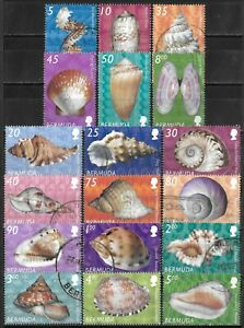 Bermuda #837-854 Used 2002-2003 Seashell Definitive Series $71 SCV