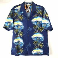 WINNIE FASHION Mens Hawaiian Shirt XL SS BD USS Arizona Memorial Pearl Harbor