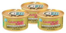 California Scents Spillproof Organic Air Fresheners, Golden State Delight-3 Pack