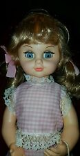 """VTG~GOLDBERGER Baby Rock-a-Bye 18""""windup music Animated Doll-head,arms,eyes move"""