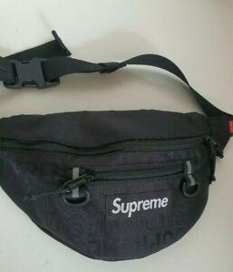 SS19 Supreme black waist bag Cordura fabric