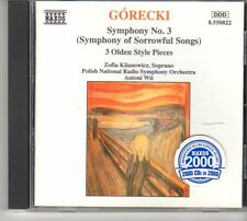 (ES107) Górecki: Symphony #3, 3 Olden Style Pieces - 1994 CD