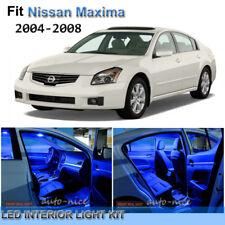 For 2004-2008 Nissan Maxima Premium Blue LED Interior Lights Kit 12 Pieces