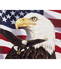NEW LARGE AMERICAN BALD EAGLE PANEL WALL HANGING FABRIC MATERIAL QUILTS DECOR #3