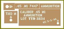 45 Cal ammo box stencil set for re-enactors ww2 army Jeep prop