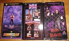 WWF 3 VHS Lot 1997 SummerSlam + BaddBlood + One Night Only