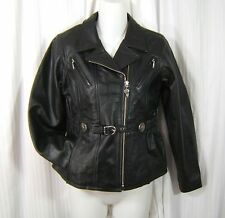 Authentic Harley Davidson Motorcycle Sz. M Women's Black Leather Riding Jacket
