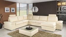 Design Luxus Lounge Sofa Landschaft Couch Polster Garnitur Leder Beige SL08 NEU!