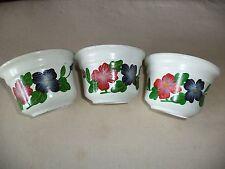 Set of 3 small plant pots